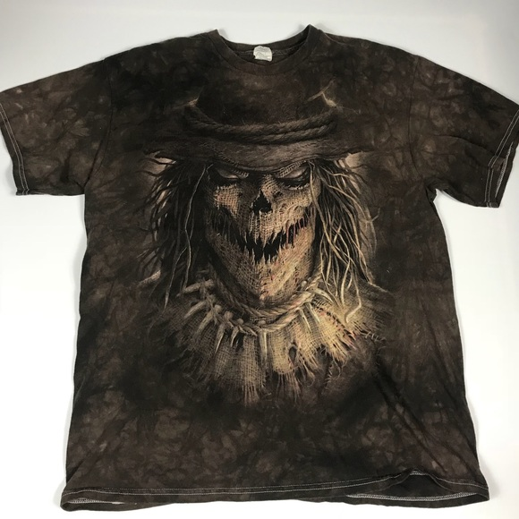 895bf7b2e9297 Scarecrow Adult Large Brown T-Shirt Halloween